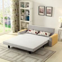 Fabric Sofa Bed Furniture, Metal Frame Sofa Bed With Drawer,Folding Sofa Cum Bunk Bed