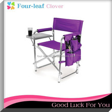 Folding Aluminium Director Chair With Side Table, Picnic Time Foldable Sports Chair
