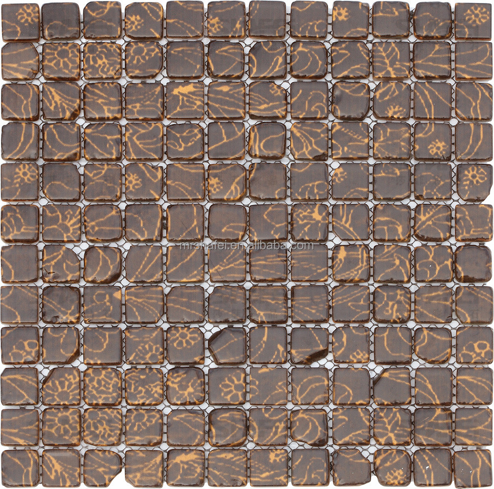 Italian style glass mosaic tile brown