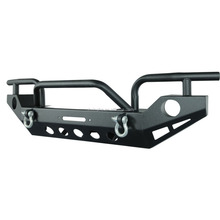 Rock Crawler Textured Black Front Bumper with D-Ring & winch mounting plate for 87-06 Jeep YJ TJ Wrangler