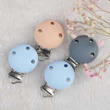 Wholesale Price Custom logo Silicone Three Holes Round silicone baby bead pacifier clip