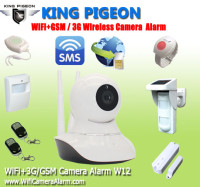 Wireless Wifi IP Camera, supports GSM 3G SMS Backup for home security