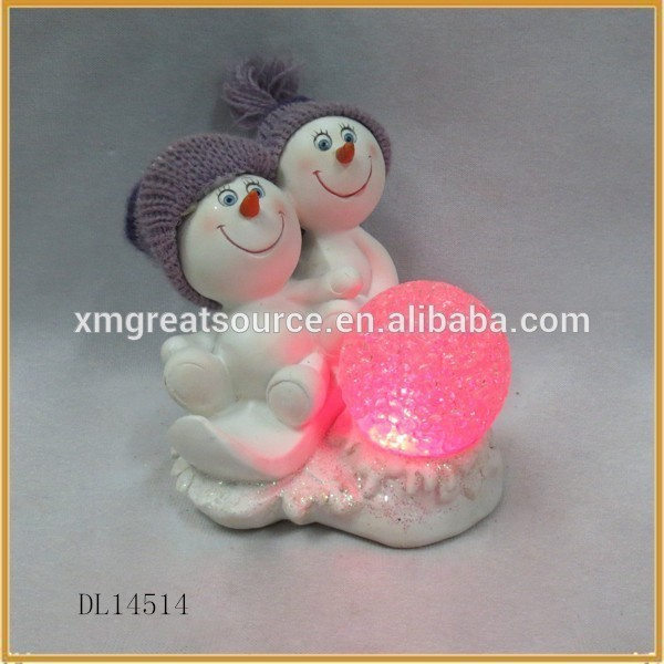 Cute child modeling christmas holiday decoration