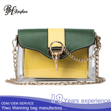 AL-098 Instagram hot summer mini clear PVC sling cross body bag for fashion girl