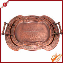 New product 3pcs decorative trays stainless steel tea tray