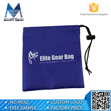 Cheap nylon drawstring bag with logo black