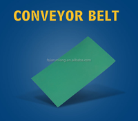 Light/high strength/elongation Green Rubber Flat Belts Type for high speed transmission machines