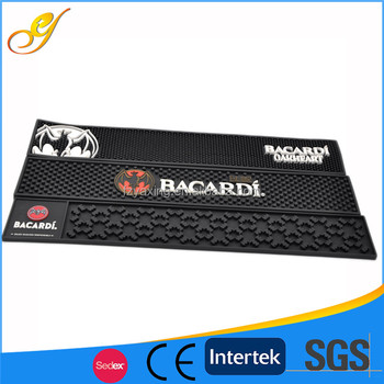 China Gold Manufacturer Promotional Brand Logo High Density Rubber Mat