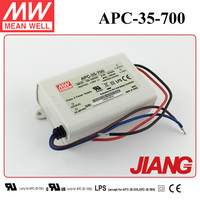 35W LED Driver 700mA Constant Current APC-35-700 Meanwell Power Supply IP30 Design