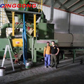 QINGGONG Hot sale H beam Blast Cleaning Machine/Roller conveyor shot blaster