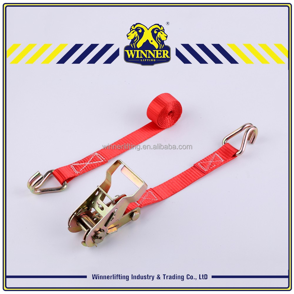 Heavy duty ratchet tie down straps and cargo lashing belt