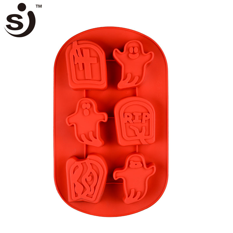 Happy Halloween' Day Funny Ghost 3d Custom Chocolate Mold Silicone Best For Gift