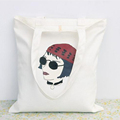 Wholesale fashion style cotton canvas tote shopping bag printing