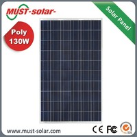 10 years Warranty High Quality Poly 130w Solar Panel