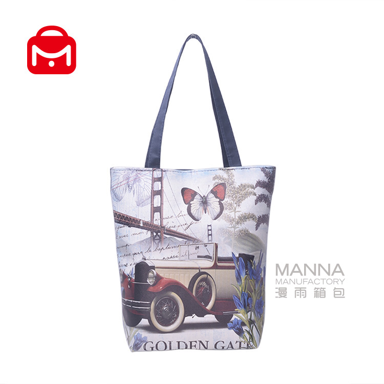 2017 new design oxford beach bag with digital printing