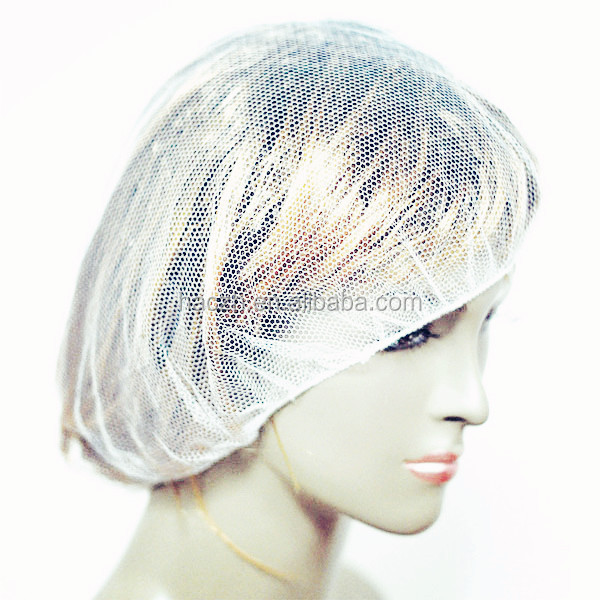 disposable nylon cap with mesh for women long hair protection