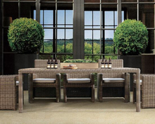 TX-D33 International home furniture outdoor half round wicker cube dining chair set