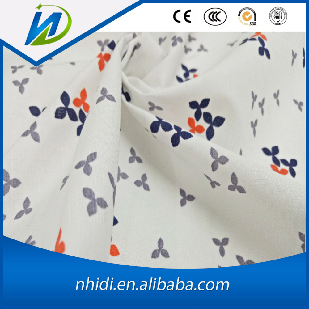 100 cotton bamboo jacquard weave flower printed fabric