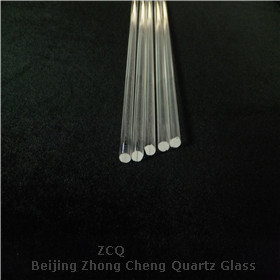 Clear quartz optical glass rod