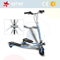 Double pedal breaststroke scooter