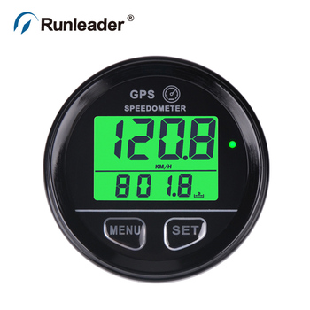 Motorcycle GPS Speedometer MPH / KM/h Plug & Play Overspeed Warning