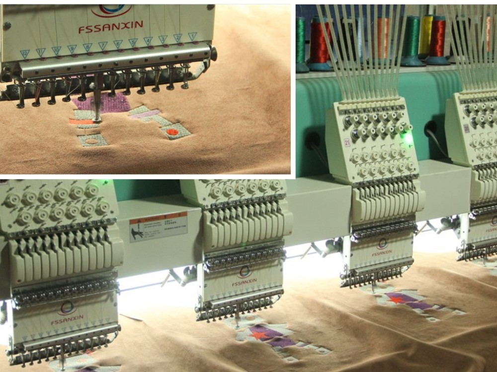 12 color 24 head flat embroidery machine 12 heads embroidery machine for garments embroidery