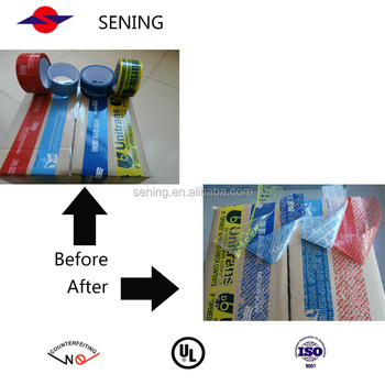 custom adhesive security void warning transfer packaging tape