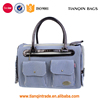 Wholesale Canvas Puppy Doggie Dog Cat Pet Carrier Travel Fashion Stripes Cage Blue Handbag