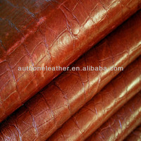 crocodile skin pvc leather for sofa