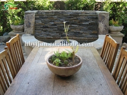 Gray culture stone garden designs indoor artificial waterfall fountain