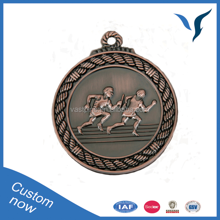 Sports Custom Metal Medals And Running Award Customer Design Souvenir Plated antique