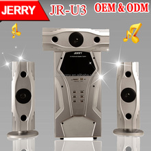 JR-U3 3.1 Amplifier stage audio speaker with remote control /bluetooth /LED light Speaker