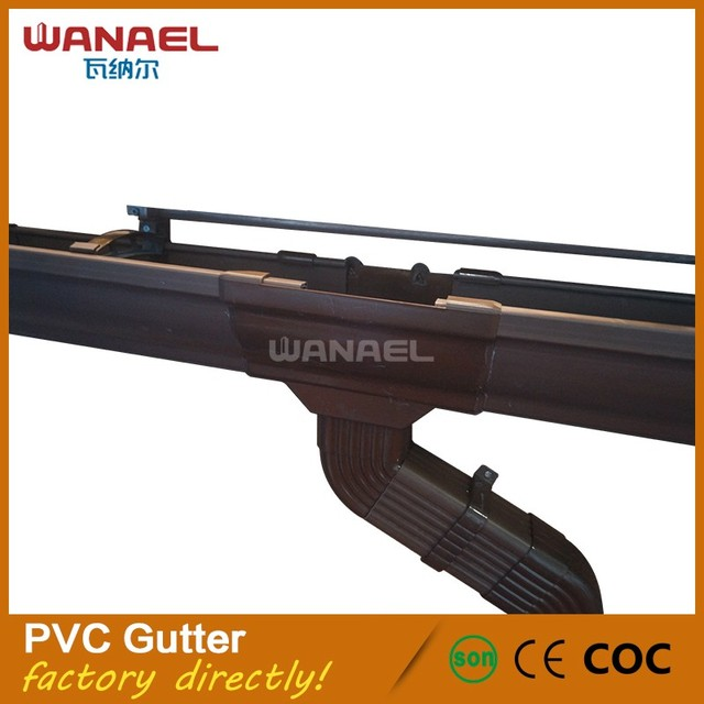 Wholesale PVC Rainwater Gutter System Manufacturer, qualified 5.2inch roof pvc gutter