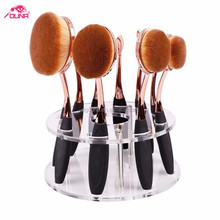 OUNA New Arrival Tooth Brush Style 9-10PCS black Makeup brush set/Oval BB Cream Foundation Brushes