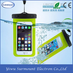 Hot New Products Waterproof Cell Phone Cases, PVC Mobile Phone Waterproof Bag for Promotional Gift