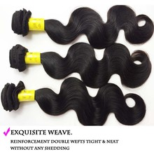 Natural Color hair weft 100g/pc Brazilian Body Wave Hair Extension 100% human hair DHL Free Shipping