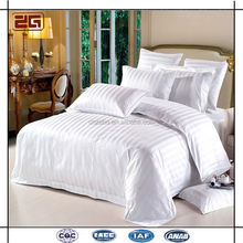 China Supplier Wholesale Cheap Jacuqard Customized 5 Star White Hotel Life Bed Sheet Set