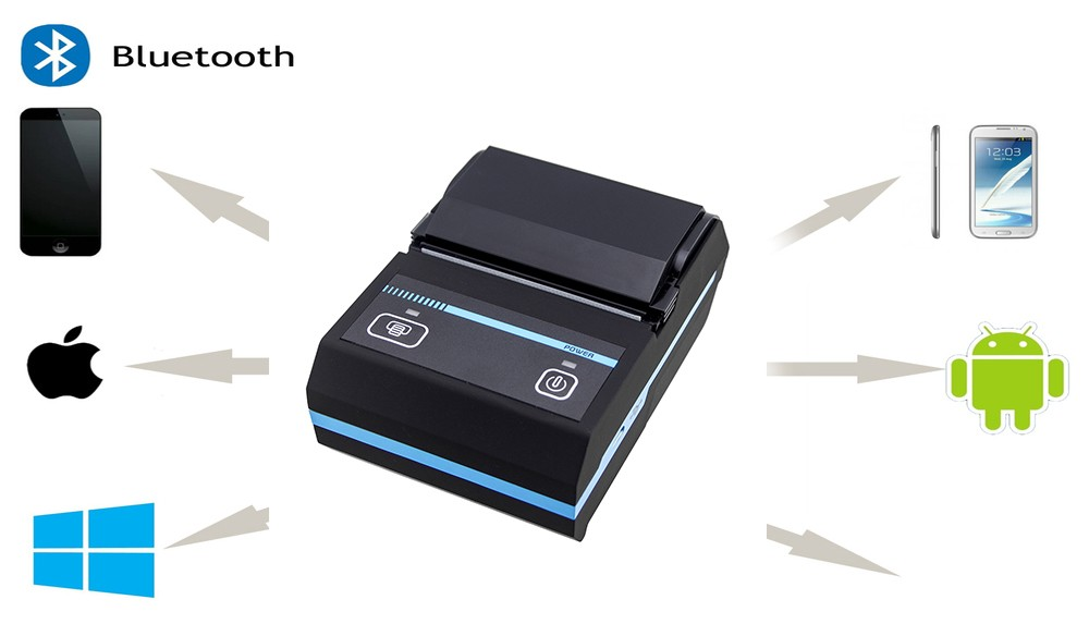 China High Quality 58mm Portable Mini Wireless Thermal Receipt Printer Bluetooth for Android IOS Windows