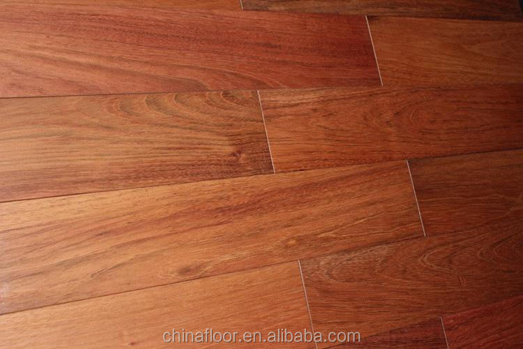 smooth surface UV coating Brazilian Cherry solid wood flooring