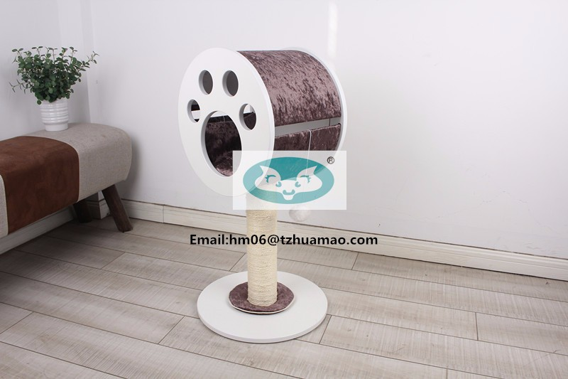 best sell luxury wooden cat tree