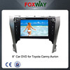 Wholesale 8Inch car audio car dvd 2 din dvd player with gps navigation fit for Toyota Camry. Aurion