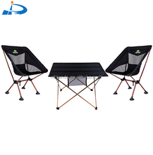 Ninghai jianda cheapest lightweight french style dining folding aluminum garden items picnic camping table and chair set