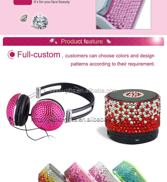 High End Rhinestone Decoration Funny Active Portable Fountain Speakers Cheap Speaker Manufacture