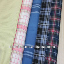 garment use big check cotton yarn dyed fabric