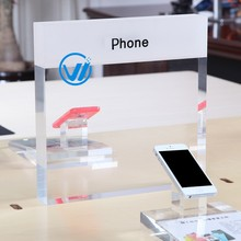 shenzhen retail tabletop printed acrylic sign holder for mobile phone store display