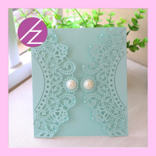 Wedding Decoration Materials Elegant Lace Design Wedding Invitation Card QJ-38