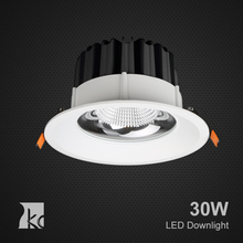 010118C for Supermarket with Die-casting Aluminum High Lumen Dimmable COB Recessed LED DownLight 30w