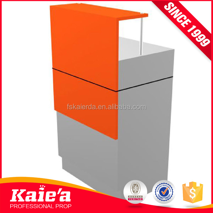 Custom wholesale modern orange the checkout counter