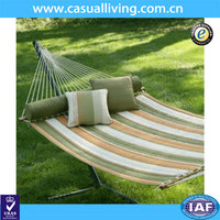 Quilted Fabric Hammock Chair with Color Stripe