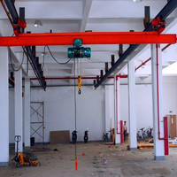 Lx Type Monorail Suspension Single Girder Overhead Traveling Crane , Crane Manufacturing Expert Products